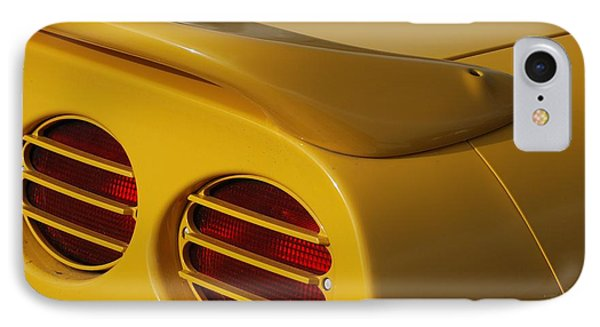 Yellow Vette Lights Phone Case by Rob Hans