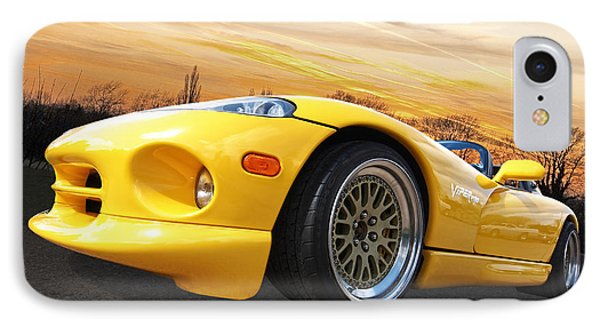 Yellow Viper Rt10 IPhone 7 Case by Gill Billington