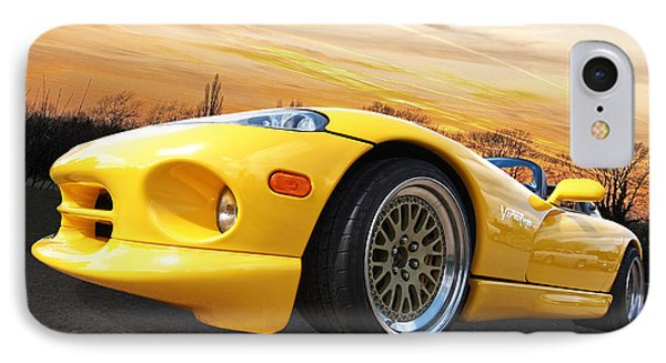 Yellow Viper Rt10 IPhone Case by Gill Billington