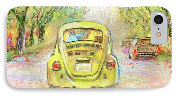 Yellow Vw Phone Case by Ron Wilson