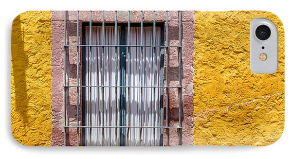 Yellow Wall With Window On Hill IPhone Case by Douglas J Fisher