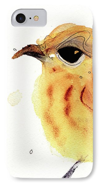 IPhone Case featuring the painting Yellow Warbler by Dawn Derman