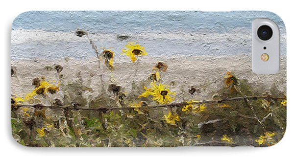 Daisy iPhone 7 Case - Yellow Wildflowers- Art By Linda Woods by Linda Woods