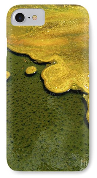 Yellowstone Art. Yellow And Green IPhone Case by Ausra Huntington nee Paulauskaite