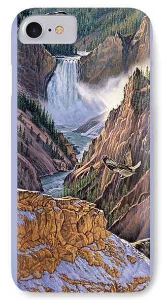 Yellowstone Canyon-osprey IPhone 7 Case by Paul Krapf