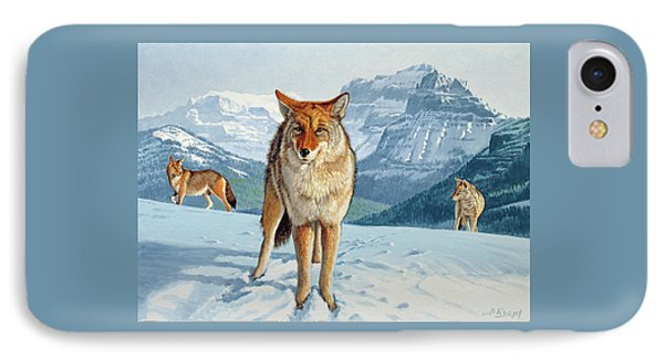 Yellowstone Coyotes IPhone Case by Paul Krapf