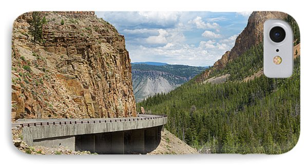 IPhone Case featuring the photograph Yellowstone Drive by John M Bailey