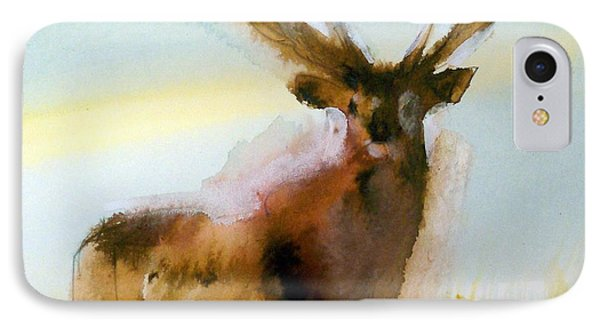 Yellowstone  Elk IPhone Case by Ed Heaton