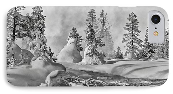 IPhone 7 Case featuring the photograph Yellowstone In Winter by Gary Lengyel