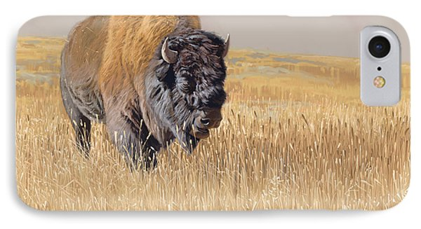 Bison iPhone 7 Case - Yellowstone King by Aaron Blaise