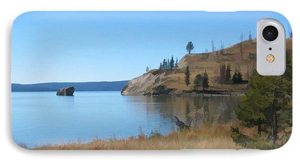 Yellowstone Lake Se IPhone Case by Gary Baird