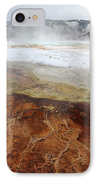 Yellowstone Mammoth Hot Springs Phone Case by Pierre Leclerc Photography