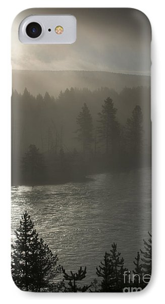 Yellowstone River Fog Phone Case by Sandra Bronstein