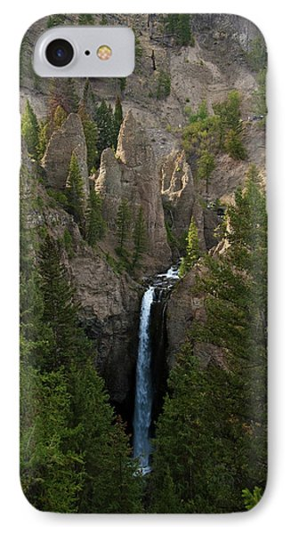 IPhone Case featuring the photograph Yellowstone Waterfall by Roger Mullenhour