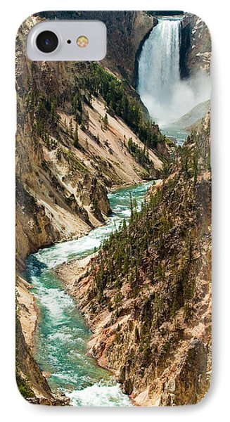 Yellowstone Waterfalls IPhone 7 Case by Sebastian Musial