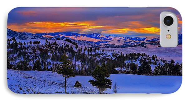 Yellowstone Winter Morning IPhone Case by Greg Norrell