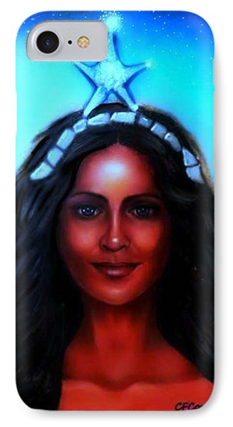 Yemaya -mother, Goddess, Warrior IPhone Case by Carmen Cordova