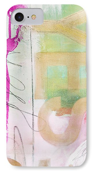 Yes Please Abstract In Pink And Gold IPhone Case by WALL ART and HOME DECOR
