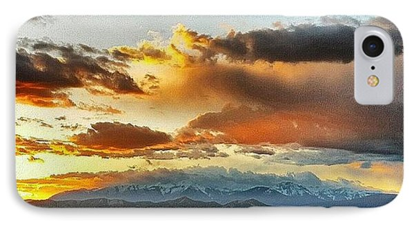Mountain Sunset IPhone Case by Joan McCool
