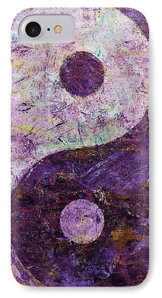 Purple Yin Yang IPhone Case