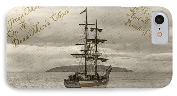 Yo Ho Ho And A Bottle Of Rum IPhone Case by Sandra Cockayne