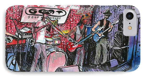 IPhone Case featuring the painting Yo Mammas Big Fat Booty Band by David Sockrider
