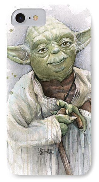 Yoda IPhone Case by Olga Shvartsur