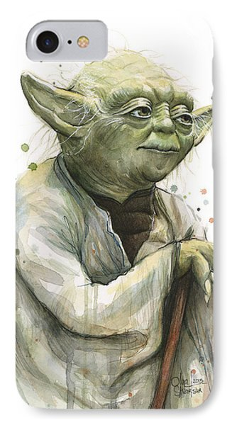 Yoda Watercolor IPhone Case