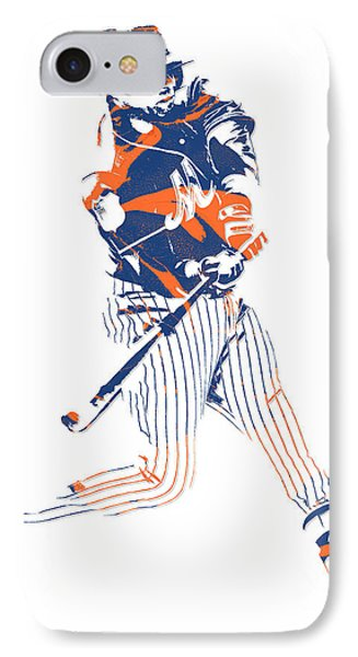 New York Mets iPhone 7 Case - Yoenis Cespedes New York Mets Pixel Art 2 by Joe Hamilton