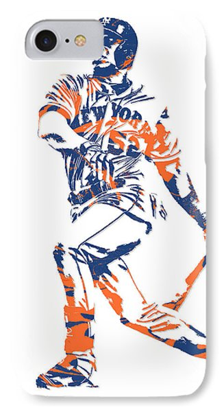 New York Mets iPhone 7 Case - Yoenis Cespedes New York Mets Pixel Art 4 by Joe Hamilton