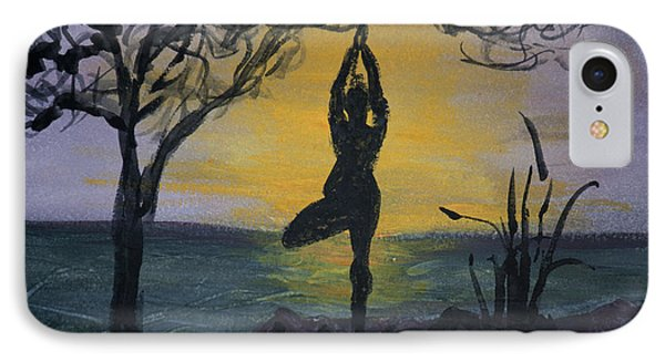 Yoga Tree Pose IPhone Case by Donna Walsh