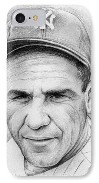 Yogi Berra IPhone Case by Greg Joens