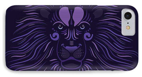 Yoni The Lion - Dark IPhone Case by Serena King
