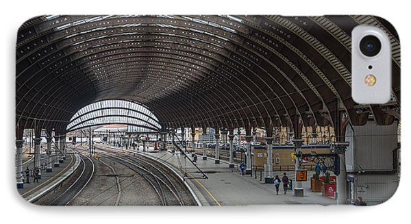 York Rail  Station  Northbound IPhone Case by David  Hollingworth
