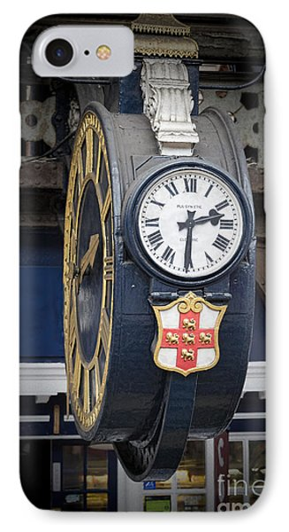 York Railway Station Clock IPhone Case by David  Hollingworth