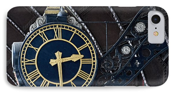 York Railway Station Clock Face IPhone Case by David  Hollingworth