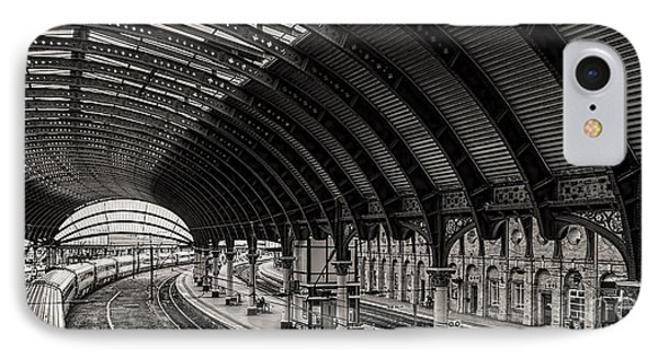 York Railway Station IPhone Case by David  Hollingworth
