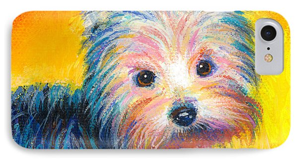 Yorkie Puppy Painting Print IPhone Case
