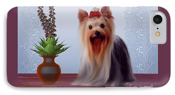 Yorkshire Terrier Phone Case by Corey Ford