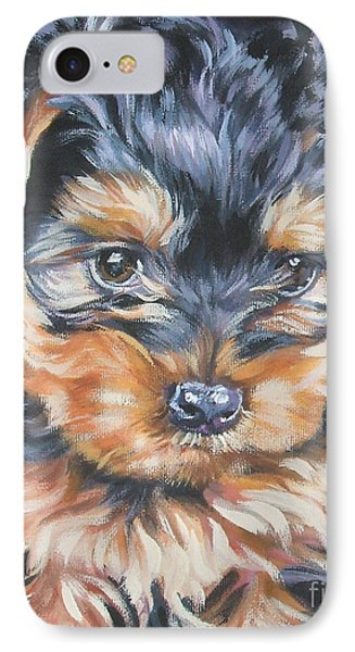 Yorkshire Terrier Pup IPhone Case by Lee Ann Shepard