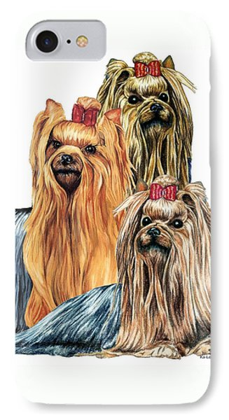 Yorkshire Terriers IPhone Case by Kathleen Sepulveda
