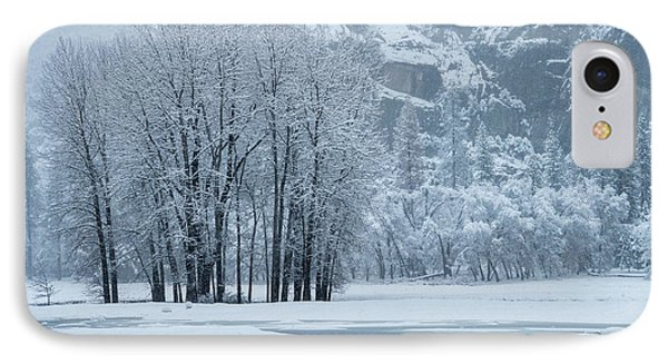 IPhone Case featuring the photograph Yosemite - A Winter Wonderland by Sandra Bronstein