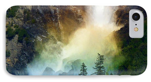 Yosemite Bridalveil Fall Rainbow IPhone Case by Jeff Lowe