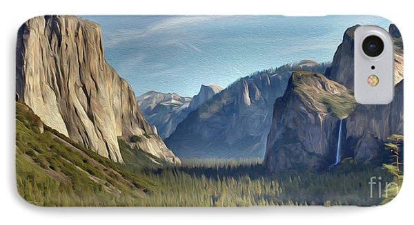 Yosemite Falls IPhone Case by Walter Colvin