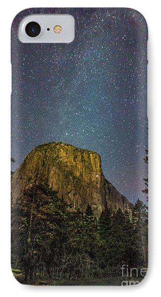 Yosemite Half Dome Milkyway IPhone Case by Timothy Kleszczewski