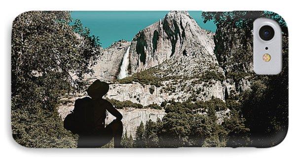 Yosemite Hiker Phone Case by Marji Lang