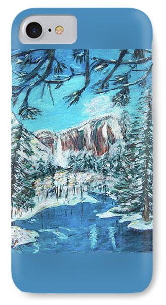 Yosemite In Winter Phone Case by Carolyn Donnell