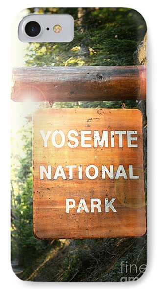 Yosemite National Park Sign IPhone Case by Jane Rix