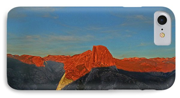 IPhone Case featuring the photograph Yosemite Summer Sunset Abstracted 1 by Walter Fahmy