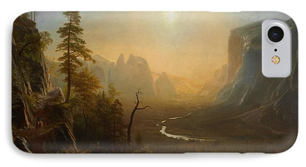 Yosemite Valley Glacier Point Trail IPhone Case by Albert Bierstadt